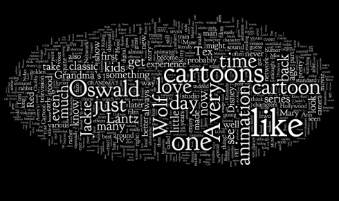 "An artistic ""tag cloud"" of the most frequently-used words in our blog"