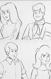 early concepts of what would become the Scooby-Doo cast
