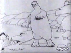 "A frame from ""Gertie The Dinosaur"""