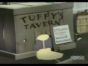 "Exterior of ""Tuffy's"" Tavern"