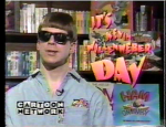 Kevin Wollenweber in 1995, during his stint as host for a day on Cartoon Network
