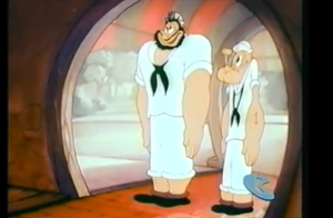 Popeye and Bluto stunned take from Anvil Chorus Girl