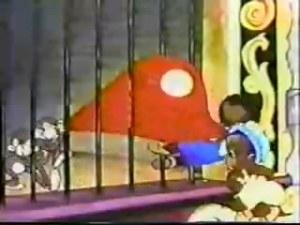 Bosko and Honey fight monkeys for large balloon