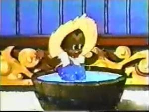 Bosko standing in a vat of water