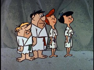Flintstones and Rubbles in judo outfits